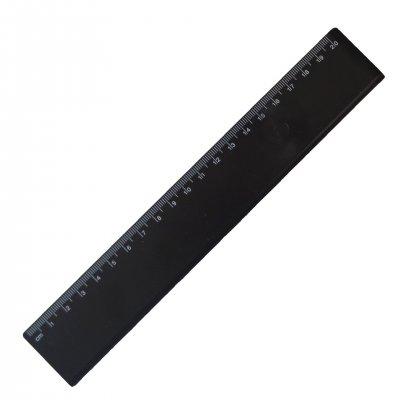 Линия, 20 cm, пластмасова, черна, 100 броя