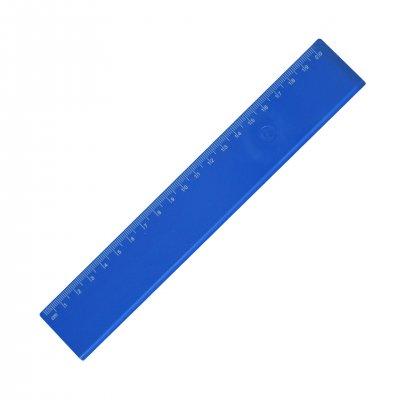 Линия, 20 cm, пластмасова, синя, 100 броя