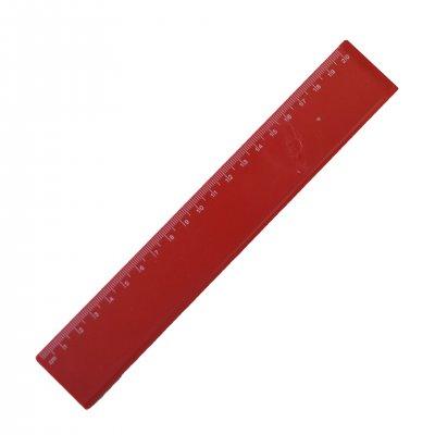 Линия, 20 cm, пластмасова, червена, 100 броя