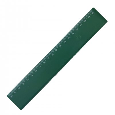 Линия, 20 cm, пластмасова, зелена, 100 броя