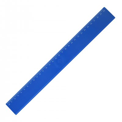 Линия, 30 cm, пластмасова, синя, 100 броя