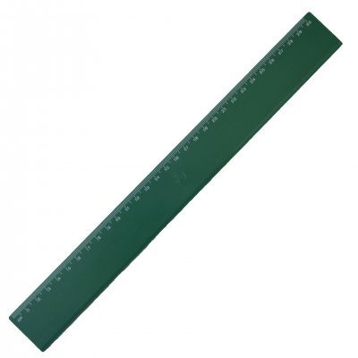 Линия, 30 cm, пластмасова, зелена, 100 броя