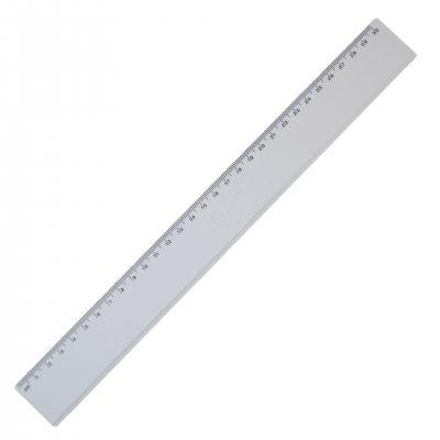 Линия, 30 cm, пластмасова, бяла, 100 броя