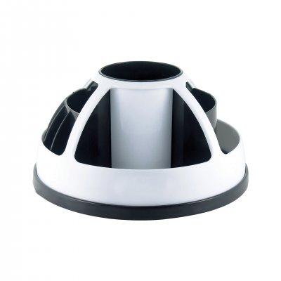 O-Life Органайзер за бюро S-899, въртящ се, празен, черно-бял