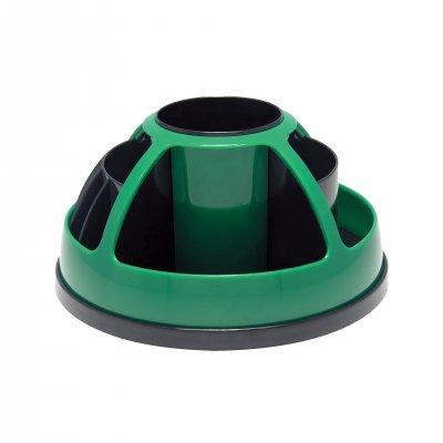O-Life Органайзер за бюро S-899, въртящ се, празен, черно-зелен