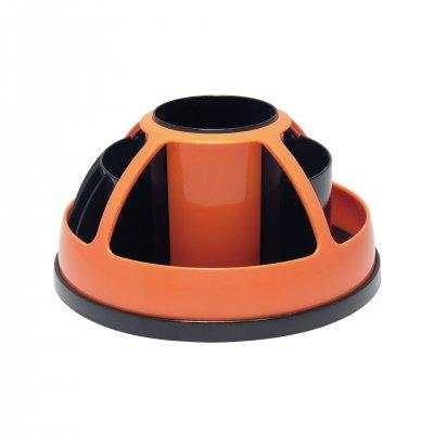 O-Life Органайзер за бюро S-899, въртящ се, празен, черно-оранжев