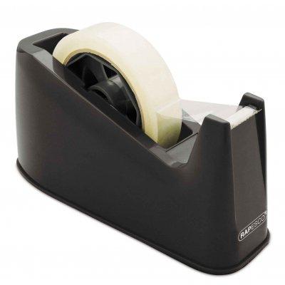 Rapesco Диспенсър за тиксо 500, за тиксо с шпула 76 mm, черна
