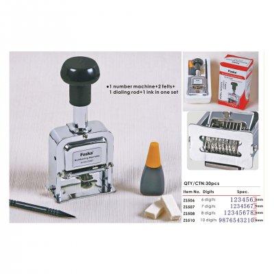 Foska Номератор, метален, автоматичен, с 6 цифри, височина 5 mm