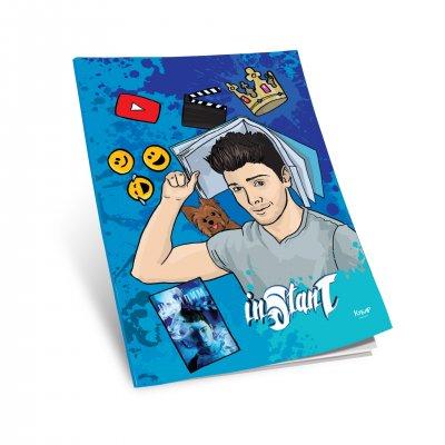 Тетрадка Стан, A4, широки редове, офсетова хартия, мека корица, 40 листа