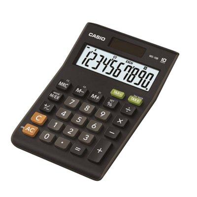 Casio Настолен калкулатор MS-10B, 10-разряден, черен
