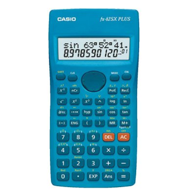 Casio Научен калкулатор FX-82SX Plus, 177 функции, двуредов дисплей, син