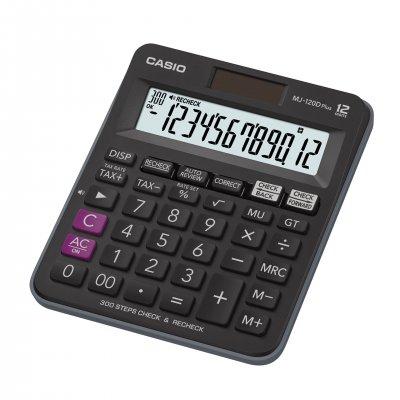 Casio Настолен калкулатор MJ-120D, 12-разряден, черен