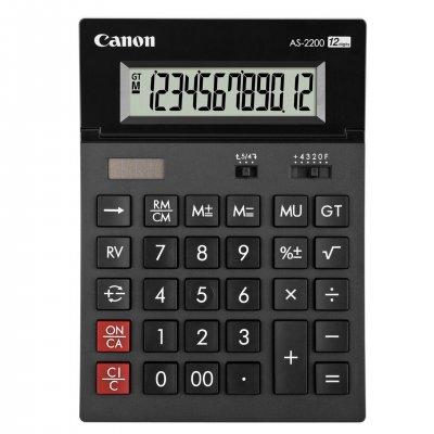 Canon Настолен калкулатор AS-2200, 12-разряден, черен