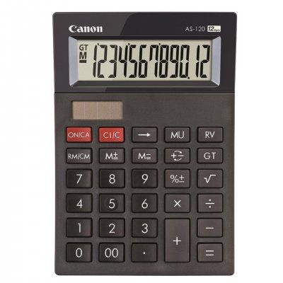 Canon Настолен калкулатор AS-120, 12-разряден, черен