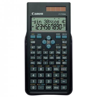 Canon Инженерен калкулатор F-715SG, 250 функции, двуредов дисплей, черен