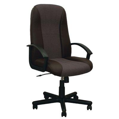 Директорски стол Mexico, екокожа и дамаска, сив