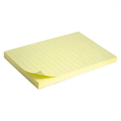 Самоз лист Delta Жълт ред 100х150mm 100 л