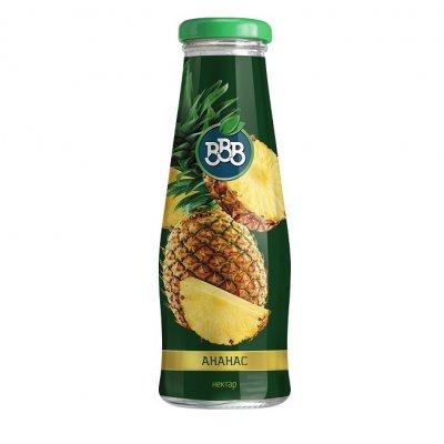 Сок ВВВ ананас 50% стъкло 250 ml