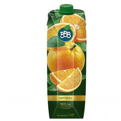 Сок ВВВ портокал 100% 1l