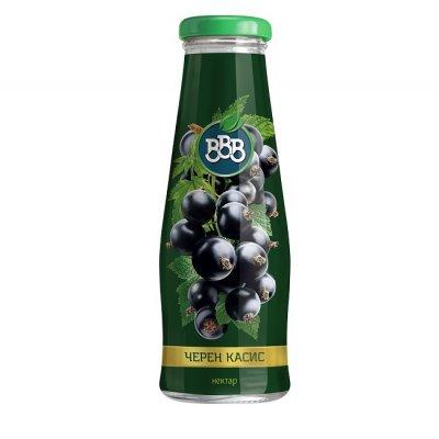 Сок ВВВ черен касис 25% стъкло 250 ml