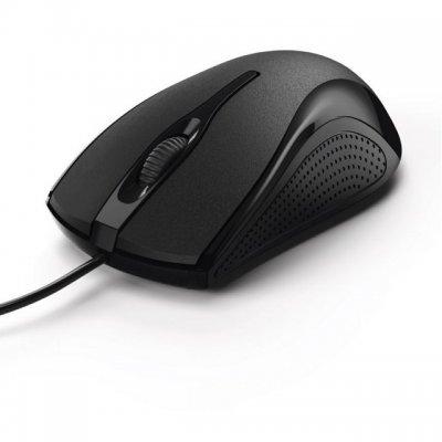 Мишка HAMA MC-200 USB оптична 1200 dpi, 3 бутона Черен