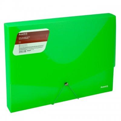 Кутия PP с ластик A4 Axent Опушено Зелен