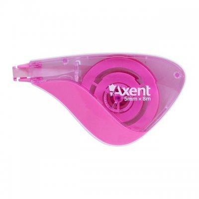 Коректор-ролер Axent 5mm x 8 m Розов