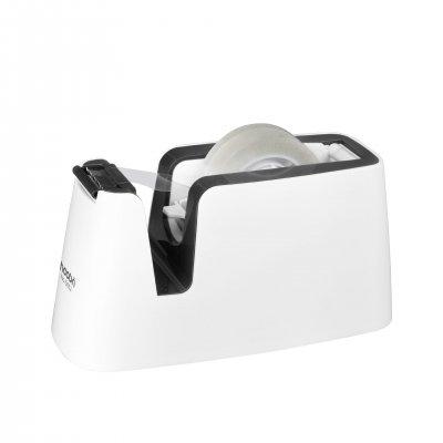 Оffice 1 Superstore Диспенсър за тиксо Elegant, максимален размер 19 x 33 mm, бялo-сив