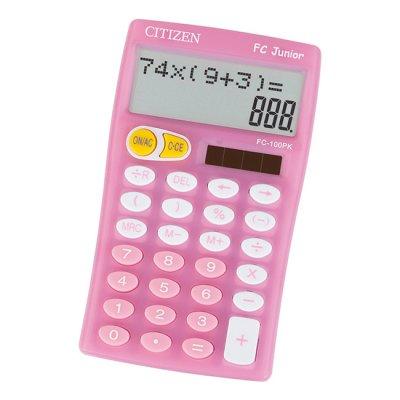 Citizen Настолен калкулатор FC100, 10-разряден, розов