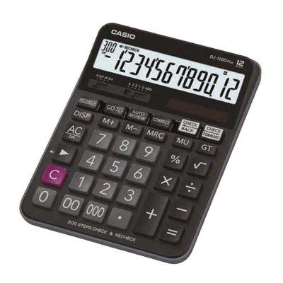 Casio Настолен калкулатор DJ-120D, 12-разряден, черен