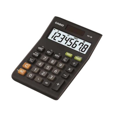 Casio Настолен калкулатор MS-8B, 8-разряден, черен