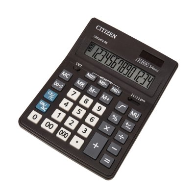 Citizen Настолен калкулатор CDB 1401-BK, 14-разряден, черен