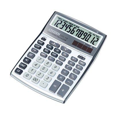 Citizen Настолен калкулатор CCC 112 WB, 12-разряден, сив