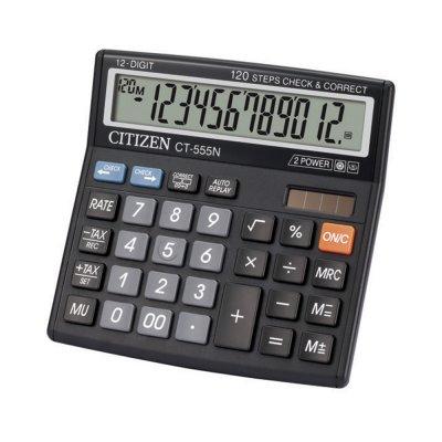 Citizen Настолен калкулатор CT-555 N, 12-разряден, черен