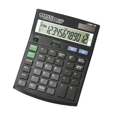Citizen Настолен калкулатор CT-666N, 12-разряден, черен