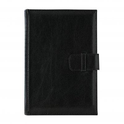 Календар-бележник Кинг, с дати, B5, черен