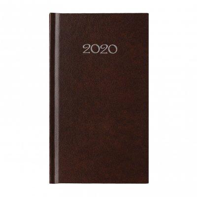 Календар-бележник Слим, седмичник, 9 x 16 cm, кафяв