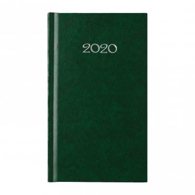 Календар-бележник Слим, седмичник, 9 x 16 cm, зелен
