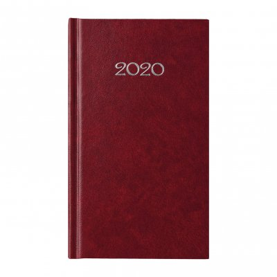 Календар-бележник Слим, седмичник, 9 x 16 cm, бордо