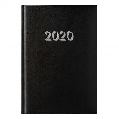 Календар-бележник Витоша, с дати, А5, черен