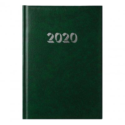 Календар-бележник Витоша, с дати, А5, зелен