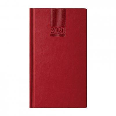 Календар-бележник Поло, седмичник, 9 x 16 cm, червен