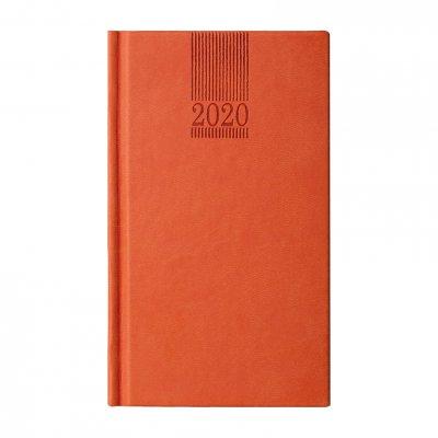 Календар-бележник Поло, седмичник, 9 x 16 cm, оранжев