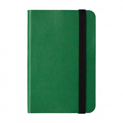 Бележник Пиколо, с ластик, 9 x 14 cm, 80 листа, зелен