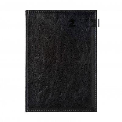 Календар-бележник Дипломат, с дати, A4, черен