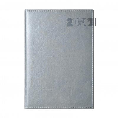Календар-бележник Дипломат, с дати, A4, сребърен