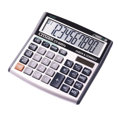 Citizen Настолен калкулатор CT-500VII, 10-разряден, сив