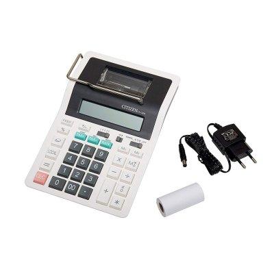 Citizen Настолен калкулатор CX-32N, 12-разряден, с лента, бял