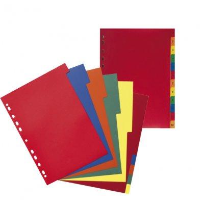 Разделител картон с 12 цветни теми А4
