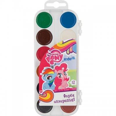 Водни бои Kite Little Pony `19 медени 12 цвята